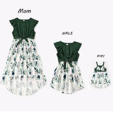 Summer, Cotton, kidsgirldresse, Family