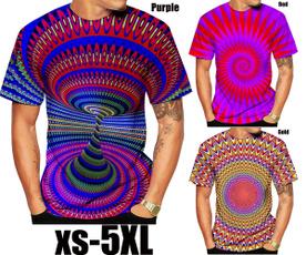 Summer, shortsleevestshirt, 3dmentshirt, colorvertigotshirt