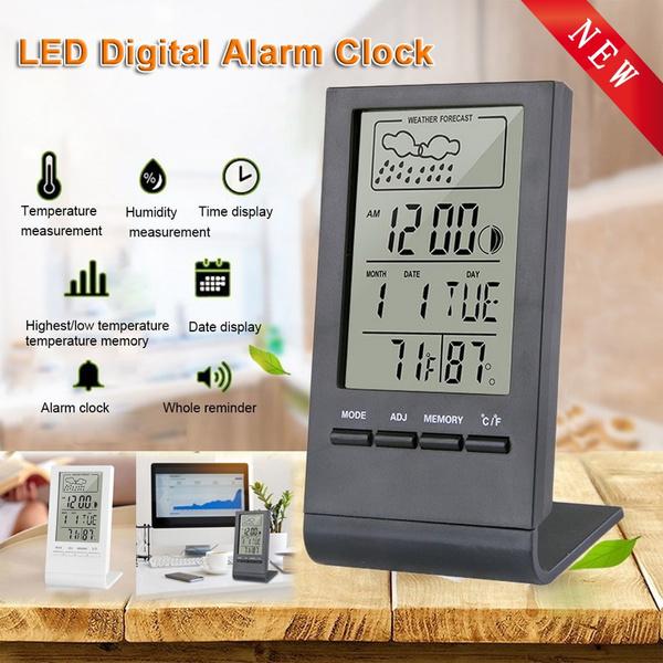 hygrometerclock, humidityclock, led, Home Decor