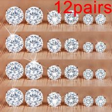 DIAMOND, Joyería de pavo reales, Stud Earring, Simple