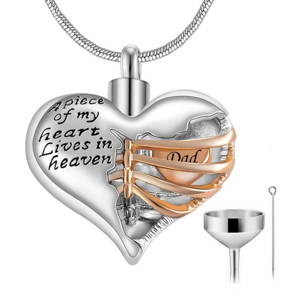 Steel, Heart, ashesjewelry, urnnecklaceforashessilver