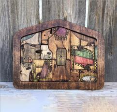 nativity, figuresandidol, Family, Wooden