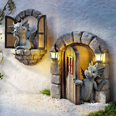 cute, Goth, dragonstatue, Ornament