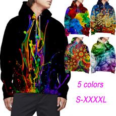 3D hoodies, pullover hoodie, Sleeve, sweater coat