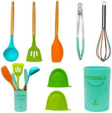 turnertongsladlespoonwhisk, Kitchen & Dining, nonstickheatresistantcookware, Silicone