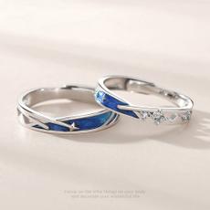 Couple Rings, Blues, meteorring, Jewelry