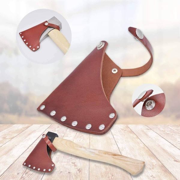 Beautiful, cowhideleathercover, axedecoration, camping