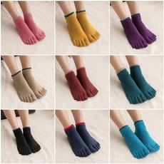 yogasock, Cotton, Cotton Socks, fivetoedsock