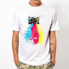rainbow, Tees & T-Shirts, men's cotton T-shirt, Cotton T Shirt