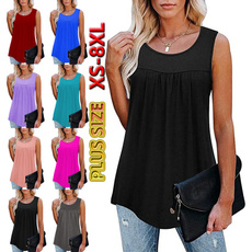 Summer, womens top, tunic top, Pleated