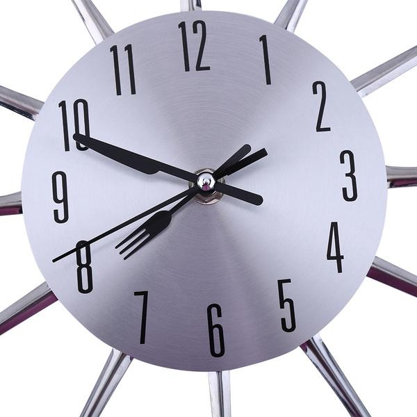 spoonforkwallclock, Kitchen & Dining, Home Decor, Clock