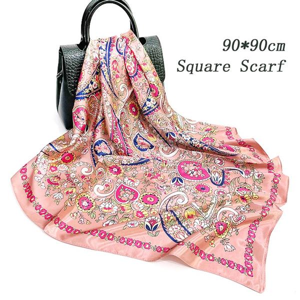 pink, Fashion Accessory, Square, Silk Scarf