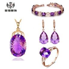 Jewelry, retrofourclawring, purple, Vintage