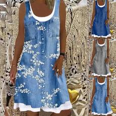 Summer, Plus Size, Tank, Swing dress