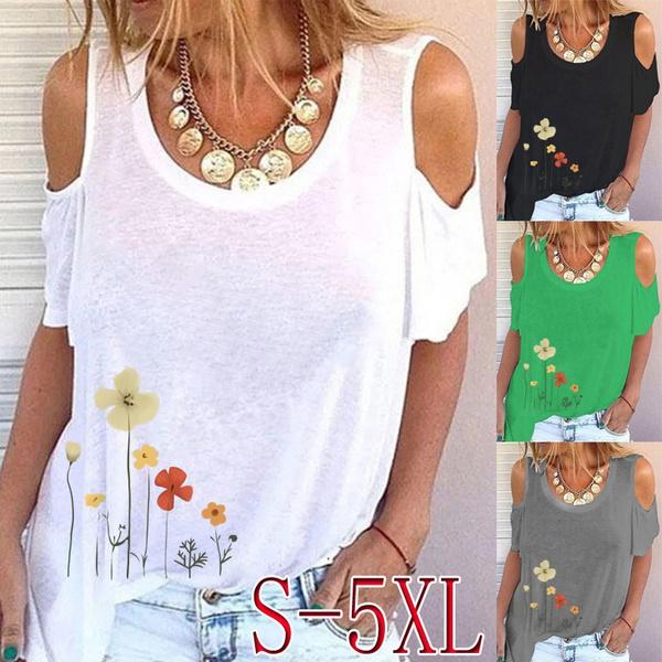 Summer, Fashion, Graphic T-Shirt, Loose