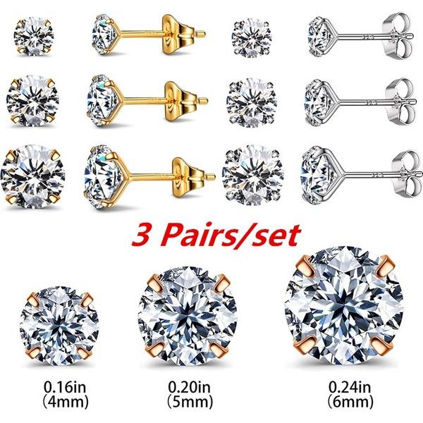 Cubic Zirconia, Sterling, 925 sterling silver, earringssetforwomen