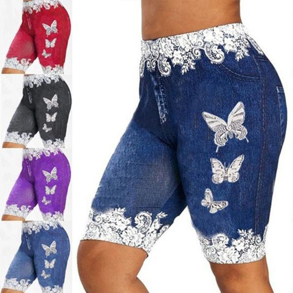 butterflyprint, capripant, Shorts, pants