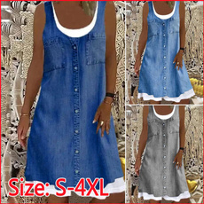 Summer, Fashion, Floral print, Swing dress