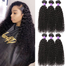 wig, Black wig, Fiber, human hair