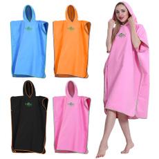 Women, hooded, Towels, swimmingponcho