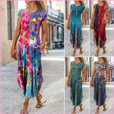 Summer, Fashion, Floral print, Necks