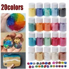 rawflourglue, resinpigment, colorfulresinliquid, Handmade
