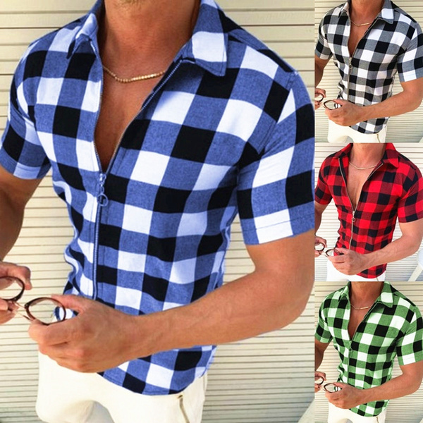 Summer, Plus Size, Fashion, plaidcasual