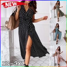 Summer, Fashion, long dress, printedlongskirt