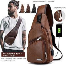 Shoulder Bags, usb, Pvc, leather