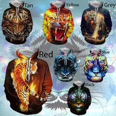 3D hoodies, Casual Hoodie, ladieshoodie, tigerhoodie