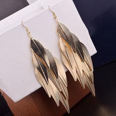leaf, Jewelry, vintage earrings, boho