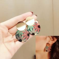 Flowers, Jewelry, retro earrings, party earrings