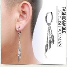 Steel, Hoop Earring, Men Earrings, Jewelry
