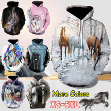 horse, hooded, Sleeve, pullover sweater