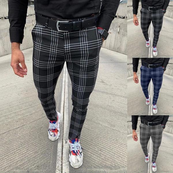 printedcasual, plaid, Waist, pants