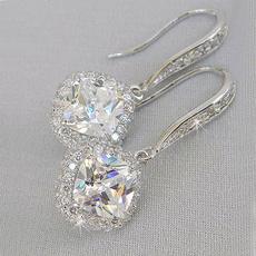 DIAMOND, Dangle Earring, lover gifts, Elegant