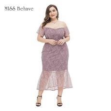 gowns, Plus Size, Lace, pencil