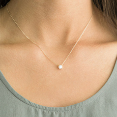 Chain Necklace, DIAMOND, Jewelry, gold