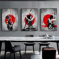blackredwallart, art, Home Decor, ninja