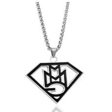 Steel, punk necklace, Jewelry, titanium