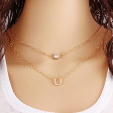 clavicle  chain, DIAMOND, Chain, Summer