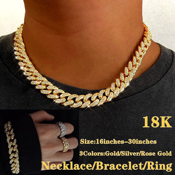 Men Jewelry, Chain Necklace, DIAMOND, icedout