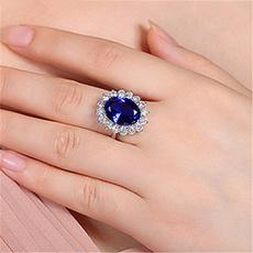 crystal ring, wedding ring, 925 silver rings, Classics