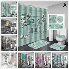 Bathroom Accessories, showercurtainset, waterproofshowercurtain, nonsliprug