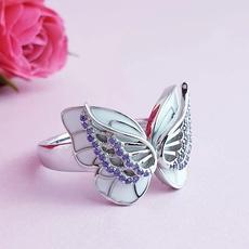 purplediamondring, butterflyring, Butterflies, Jewelry