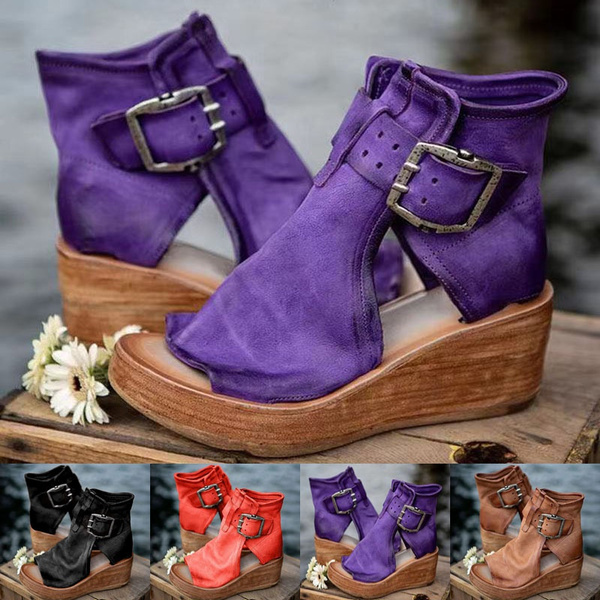 wedge, Sandals, Leather Boots, Wedge Shoes