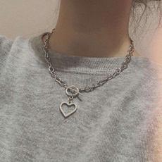 Heart, Jewelry, Chain, Simple