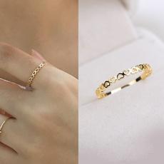 Couple Rings, Heart, whitegoldring, Fashion
