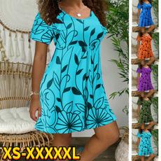 short sleeves, Summer, Plus Size, Sleeve