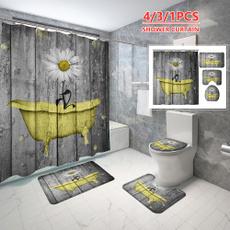 Bathroom, Bathroom Accessories, Sunflowers, Waterproof